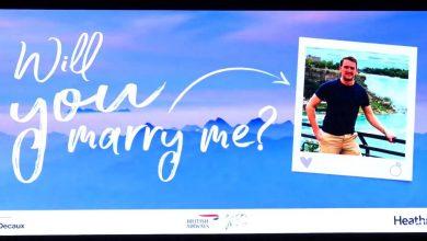Photo of Man vraagt vriendin ten huwelijk met hulp van BA en Heathrow Airport | Video