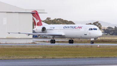 Photo of Fokker 100 QantasLink schiet van landingsbaan af