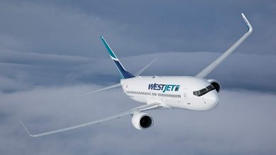 Photo of WestJet 737 glijdt van landingsbaan in Canada