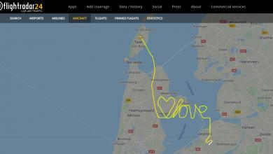 Photo of Piloot voert valentijnsstunt uit boven IJsselmeer