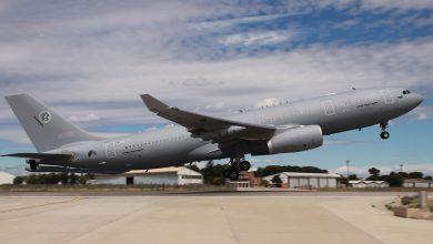 Photo of Eerste A330 tanker voor NAVO naar Eindhoven