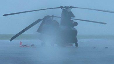 Photo of Chinook Koninklijke Luchtmacht beschadigd in storm VS