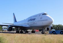 Photo of Lufthansa 747's gevangen op Twente Airport