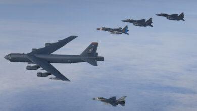 Photo of Nederlandse F-16's oefenen met Amerikaanse luchtmacht